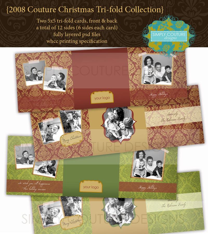 Simply Couture Designs - custom photo card templates including baby ...