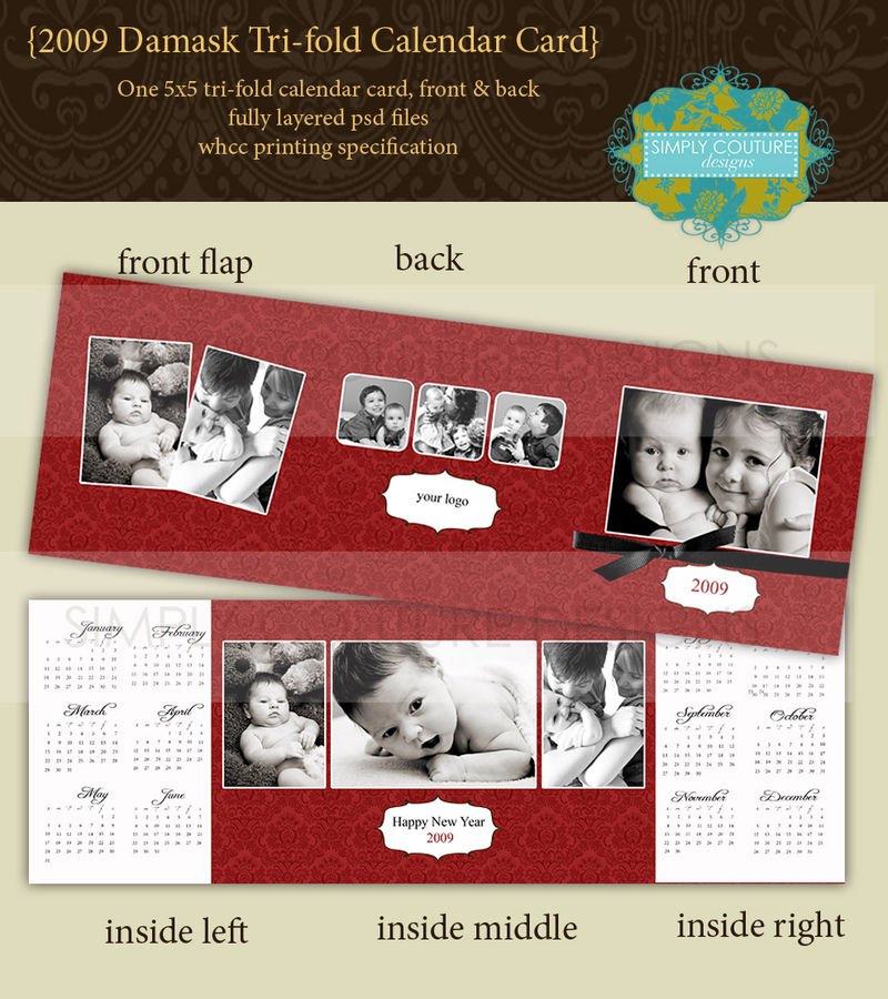 Simply Couture Designs Custom Photo Card Templates Including Baby