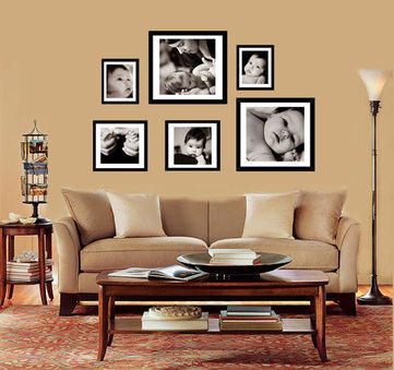 Treat Your Living Room A Wall Of Arts!